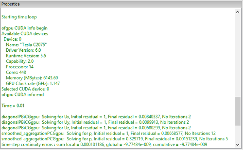 OpenFOAM on Windows using ofgpu