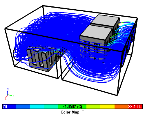 Caedium CFD Electronics Cooling Simulation