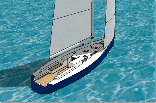Simplified SketchUp Yacht Model