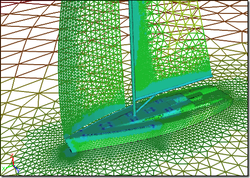 Yacht Surface Mesh