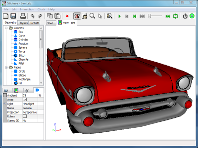 Faceted 57 Chevy Model: Exchange add-on can now import faceted Alias/Wavefront files