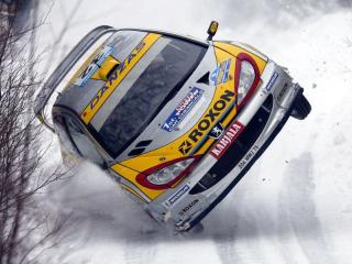 Peugeot 206 World Rally Car: Even on two wheels it's still unlikely to qualify for the Automotive X Prixe.