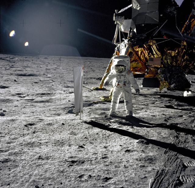 Buzz Aldrin and Apollo 11 Lunar Module