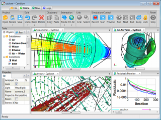 CFD Visualization in Caedium: Iso-surfaces, Vectors & Streamlines