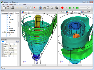 Caedium Professional Cyclone CFD Simulation