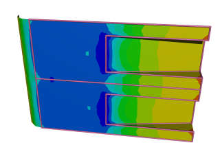 Racing Car Diffusers: Pressure coefficient contours, where red is high and blue is low