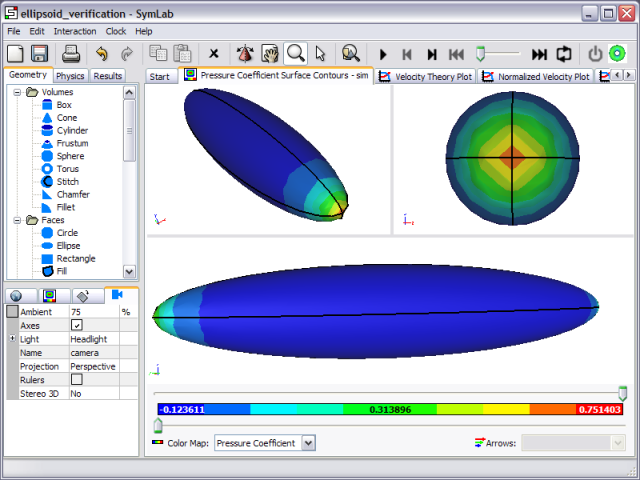 Ellipsoid Verification Screenshot