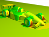 Open Wheel Race Car Pressure Coefficient