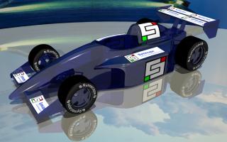Symscape Branded Glass Race Car