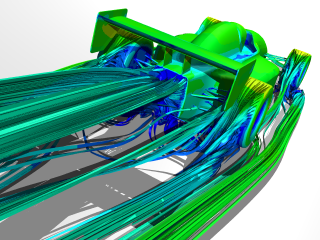Caedium CFD Simulation: Open wheel race car