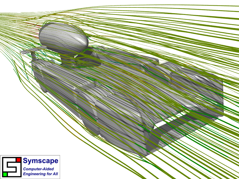 Streamlines F1 in Schools Design 2 Front View