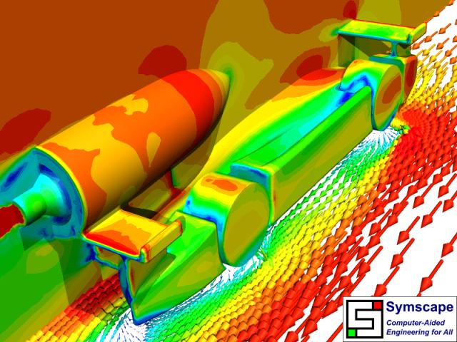 Velocity F1 in Schools Design 1 Rear View