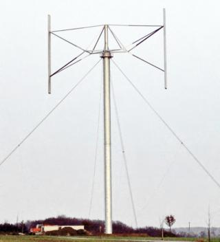 Giromill (Eggbeater) Vertical-Axis Wind Turbine