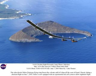 Helios Prototype: Solar-powered flying wing