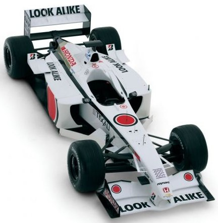Honda Formula 1 Car: Multi-element airfoils at front and rear