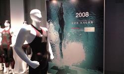 Speedo LZR Racer: Uses textured panels to reduce drag