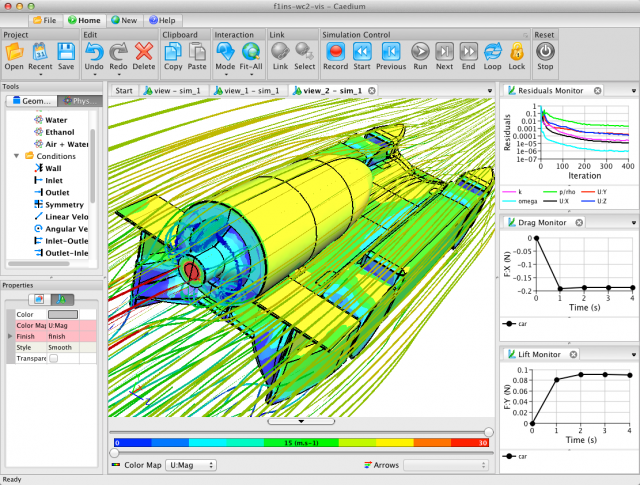 Caedium Brings Interactive CFD to the Mac | Symscape
