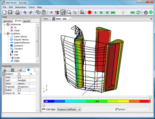Vertical Axis Wind Turbine Air Flow Simulation
