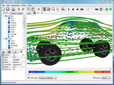 Transparent Virtual Car: Caedium Air Flow Simulation