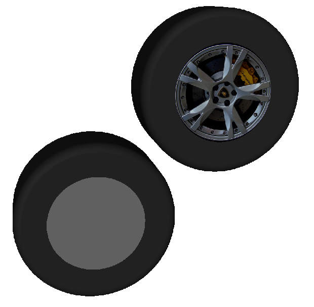 Texture Mapped Wheel Center