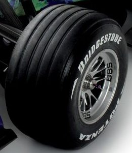 Wheel on Formula 1 Car