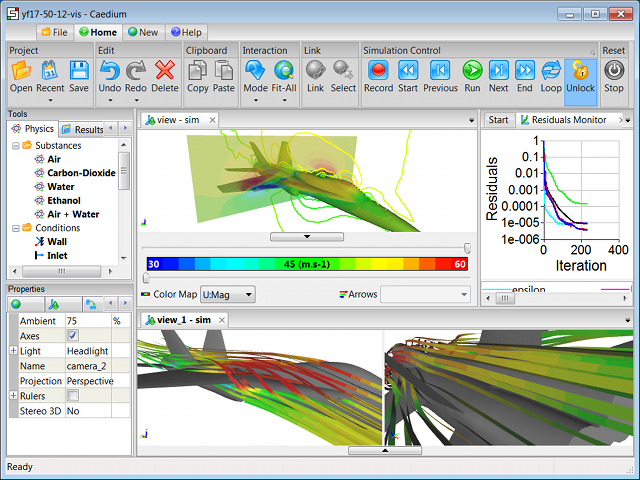 Caedium RANS Flow CFD Simulation