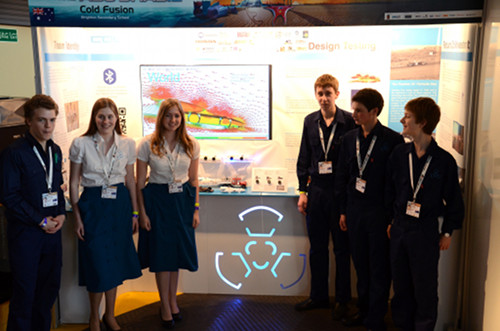 Cold Fusion Team and Booth Display