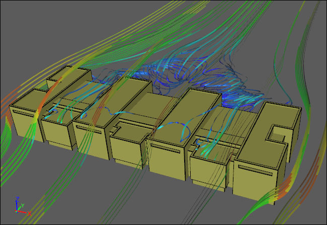 Airflow CFD Simulation Around the Smithsonian Air and Space Museum