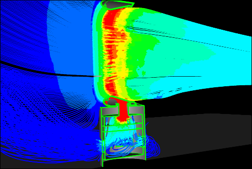 Idealized Dyson Air Multiplier CFD Simulation - Symmetry