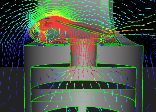Idealized Dyson Air Multiplier CFD Simulation - Base Symmetry