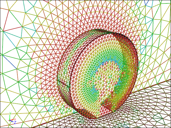 CFD Mesh for an Analytic Wheel