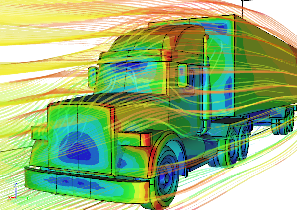 CFD Simulation of the Airflow Around a Truck