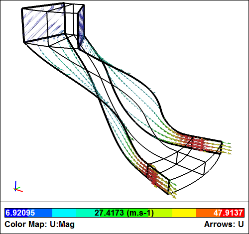 Compressor Passage CFD Simulation - Cyclic boundaries
