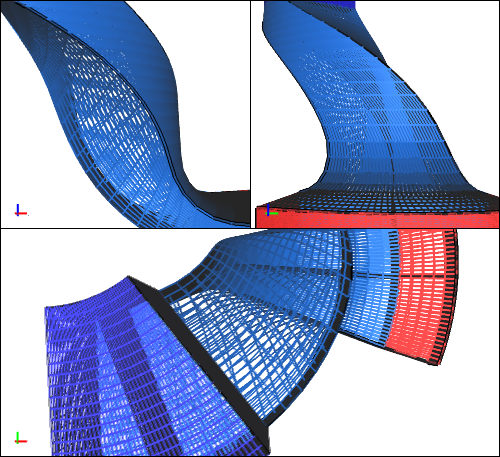 Compressor Passage CFD Simulation - Mesh
