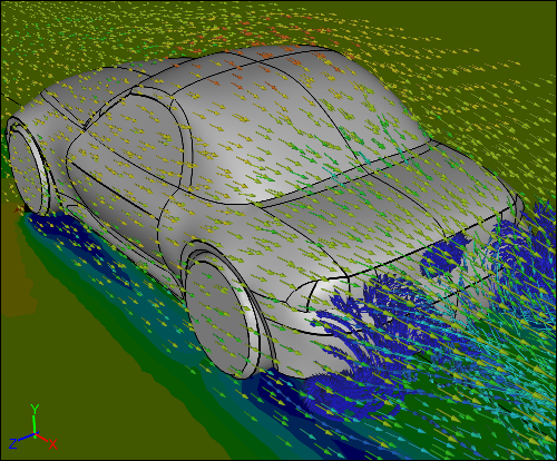CFD Simulation of a Car without a Wing