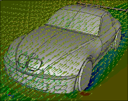 CFD Simulation of a Car with a Wing