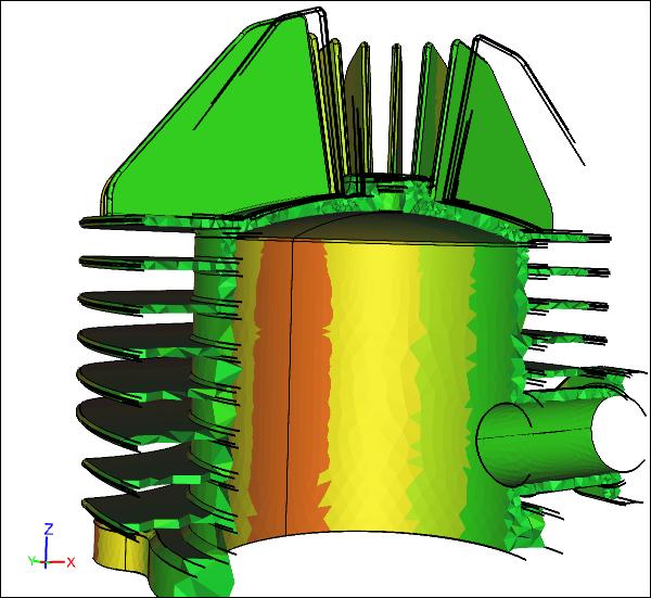 Cylinder Head Stress Model