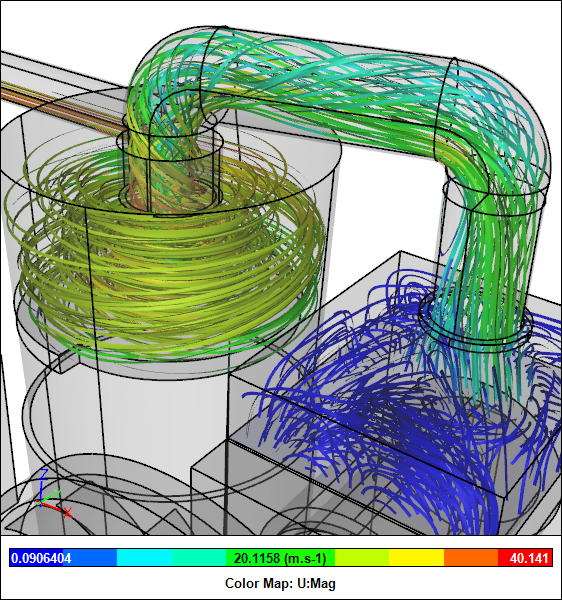 Dust Collector CFD Simulation