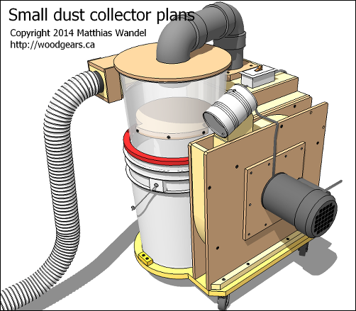 Small Dust Collector SketchUp Model