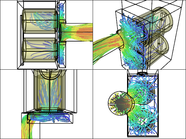 CFD Simulation of a Filter Assembly for a Dust Collector