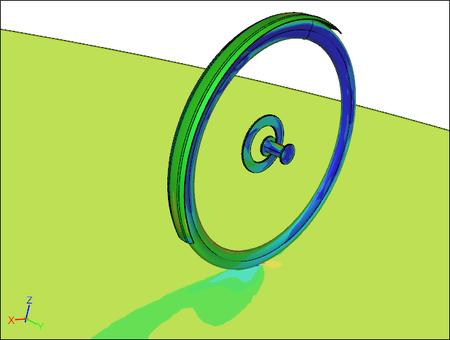 CFD Simulation of a Wheel with a Fender and Disc Rotor