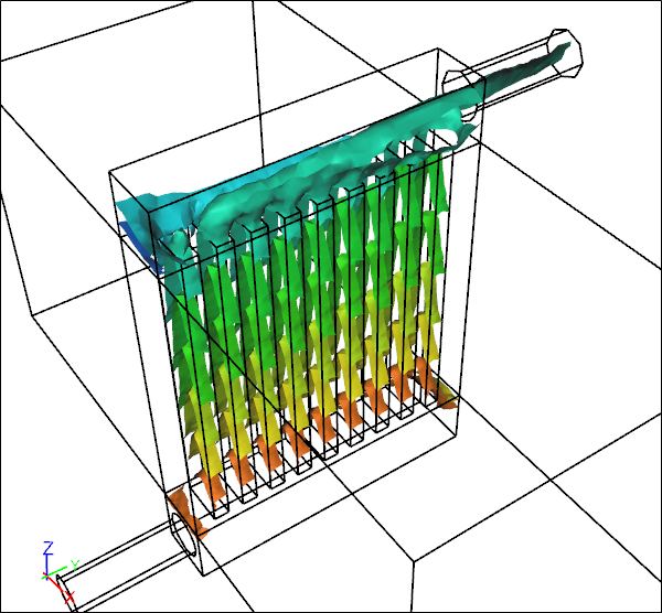 Conjugate Heat Transfer for a Heat Exchanger
