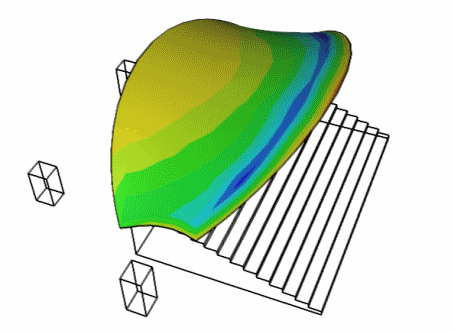 Caedium v4 Membrane CFD Simulation: Surface Pressure Coefficient (Cp)