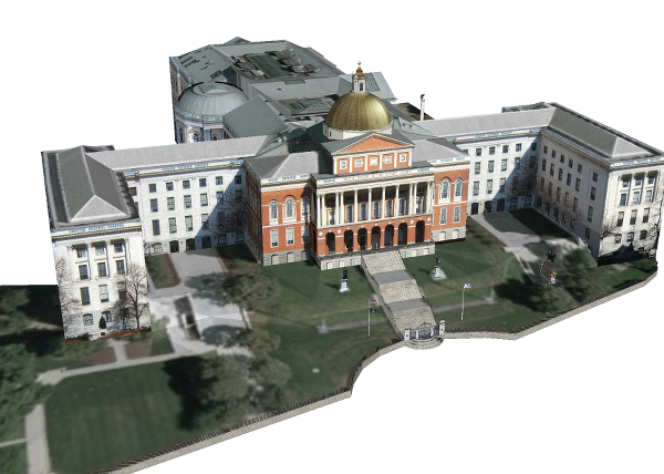 Massachusetts State House Texture Mapped