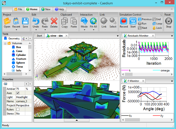 CFD Simulation in Caedium