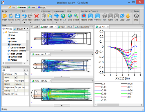 Parametric CFD Study of Pipe Diameter