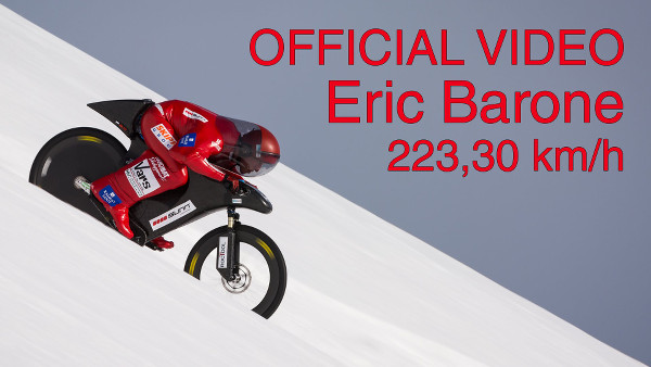 Eric Barone - 223,30 km/h (138.752 mph) - World mountain bike speed record