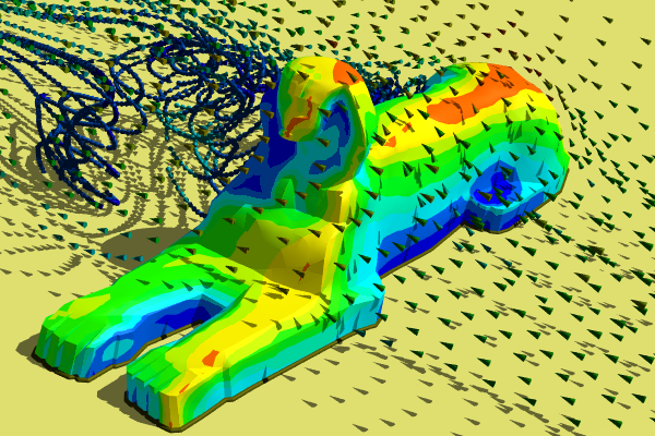 Caedium CFD Simulation Around The Great Sphinx
