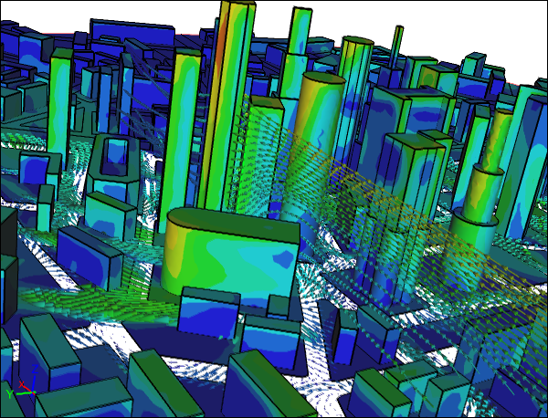 CFD Simulation of a City
