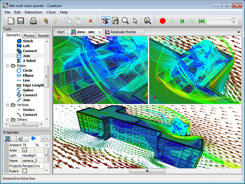 Caedium CFD Simulation of Hybrid Geometry